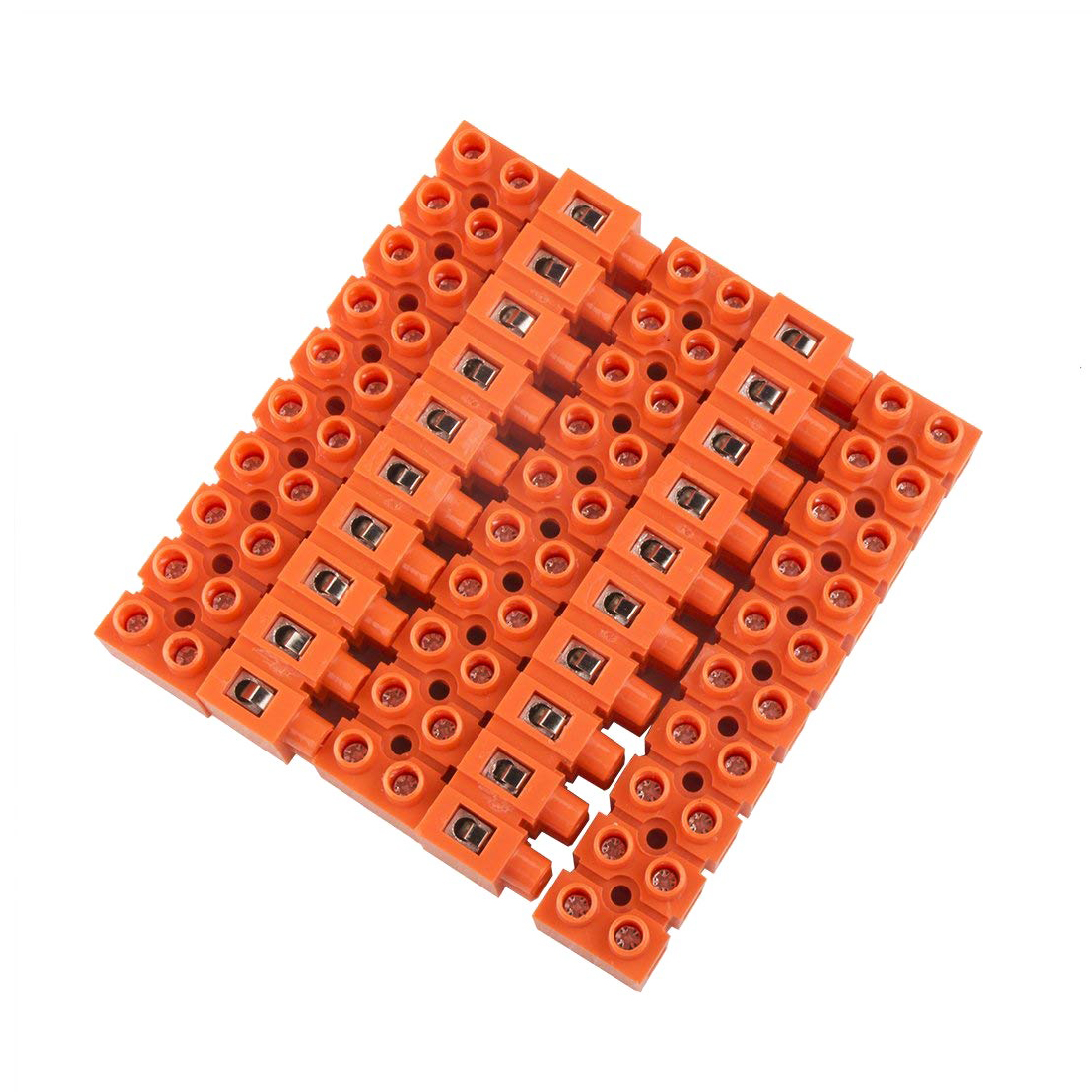 DSHA 5pcs 600V 36A Dual Row 10 Positions Screw Terminal Electric Barrier Strip Block цены