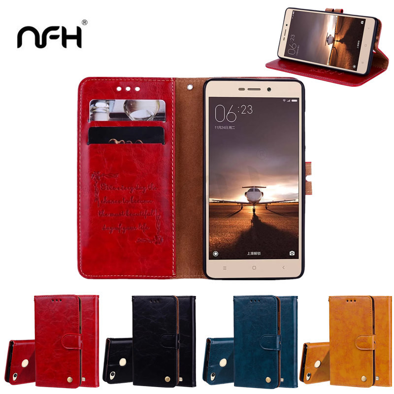 Comfortable Leather Full Cover Case For Xiaomi Redmi 3S Xiaomi 3S Pro Luxury Flip Wallet ...