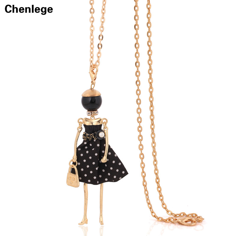 뜨거운 판매 목걸이 여성 패션 칼라 프랑스어 파리 소녀 큰 펜던트 빈티지 긴 체인 드레스 목걸이 초커 보석