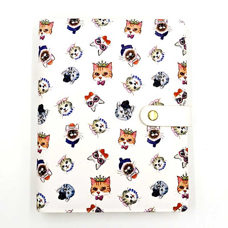 где купить Fromthenon Cute Pu Leather Notebook Cover Kawaii Cat A5A6 Spiral Planner Personal Diary Weekly Monthly Daily Journal Stationery дешево