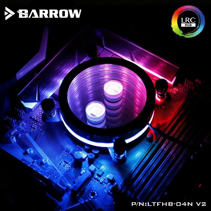 Курган процессор воды блок использовать для INTEL LGA 1150 1151 1156 1155 акрил + медь радиатор RGB 5 В GND к 3PIN Hearder в материнской плате