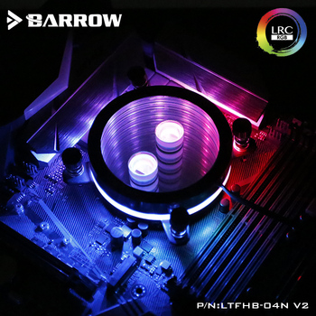 Barrow CPU Water Block use for INTEL LGA 1150 1151 1155 1156 Acrylic + Copper Radiator RGB 5V GND to 3PIN Hearder in Motherboard barrow cpu water block use for amd ryzen3000 am3 am4 radiator 5v gnd to 3pin hearder motherboard