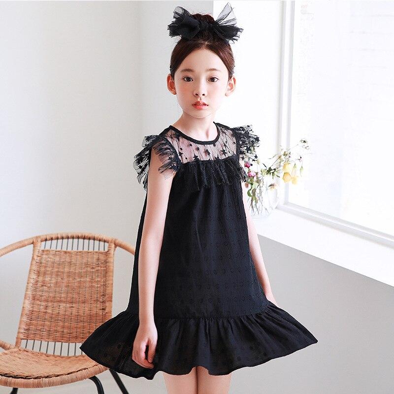Vestido De Encaje Para Niñas Verano 2019 Nuevos Vestidos