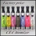 10 PCS CE4 atomizador CE4 Ecigarette Clearomizer 1.6 ml ajuste em eGo - T / K / W EVOD Series Battery 510 tópico 8 cores frete grátis