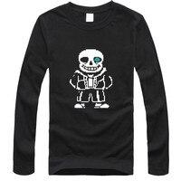 Hot Sale Skeleton Cartoon Tshirt Autumn Cotton T Shirts Men S Long Sleeve O Neck Printed