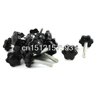 20 Pcs 30mm Dia Star Shape Head M6 x 25mm Male Thread Clamping Screw Knob 2pcs 40mm x 8mm male thread five pointed star head screw knob handle