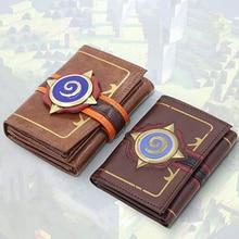 Hearthstone cartera de cuero con relieve para tarjetas, héroes de Warcraft corta, triple