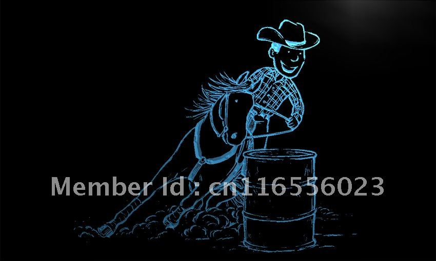 Ld524 Barrel Racing Horse Led Neon Light Sign Home Decor Crafts China Mainland