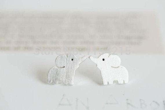 Hfarich Elephant Stud Earrings Copper Cute Couple Jewelry Pet Animal Earrings for women Gifts Dropshipping wholesale earrings