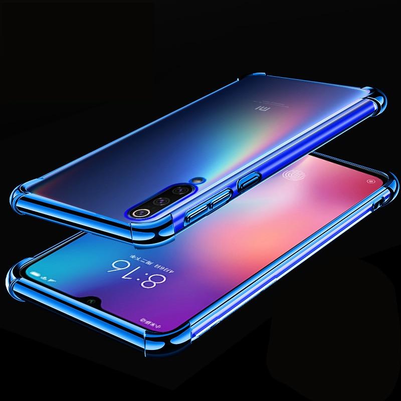for Xiaomi Mi 9 9SE Redmi Note 7 Pro 3D Laser Elec-plating Airbag Case for Xiaomi Mi9 7Pro Case Anti-shock Transparent Cover redmi note 7 pro cover