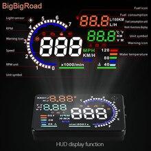 BigBigRoad For Hyundai I20 I30 IX25 IX35 Tucson Accent Solaris Terracan Santa Fe Car Windscreen Projector HUD Head Up Display