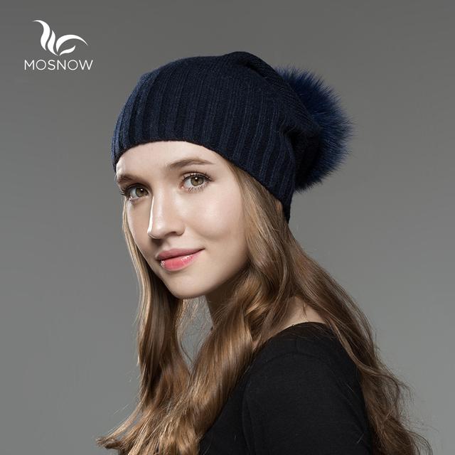 Fashion Wool Pom Poms Women Hats