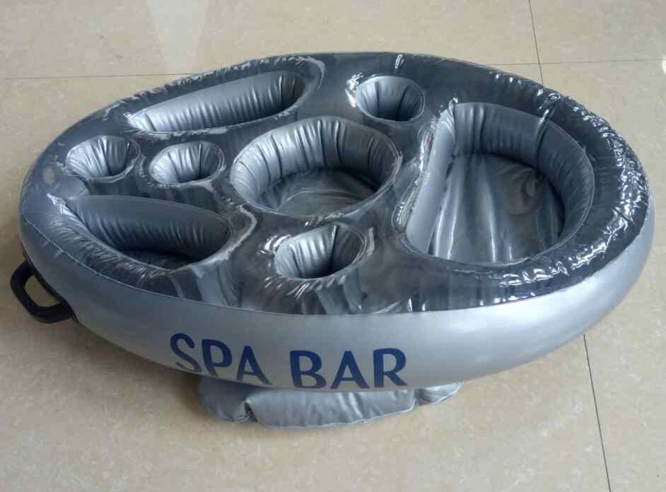 Plateau de boissons flottant et conteneur alimentaire   Plateau gonflable pour Bar Spa jacuzzi piscine