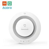 Xiaomi MIJIA Honey well Aqara Smoke & Gas Alarm Detector Fire Protection Remote Alert Smart Home Kit for Mi Hone APP Gateway