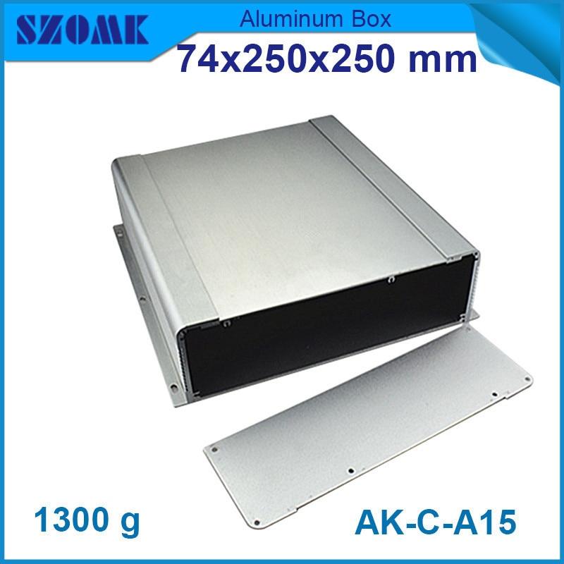 Mural en aluminium switch box (4 pcs) 74*250*250mm szomk électronique extrudé logement boîtier
