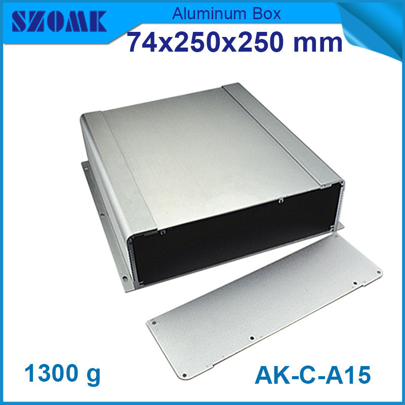 wall mounted aluminum switch box (4pcs) 74*250*250mm szomk electronics extruded housing enclosure 3206 amplifier aluminum rounded chassis preamplifier dac amp case decoder tube amp enclosure box 320 76 250mm