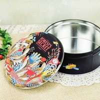 Bonnie Rabbit Cookie Storage Container Metal Round Storage Tin Cans Holiday Cookie Jar Gift Box