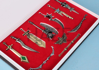 11PCS Badge Weapon Keychain Toy Collection Playset In Box