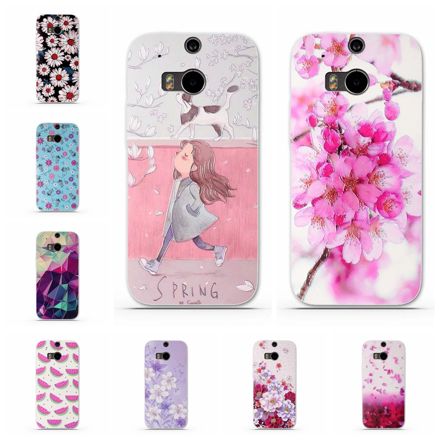 Phone Case for Coque HTC One M8 M8s Case Back Cover Silicon TPU Soft Case for Fundas H
