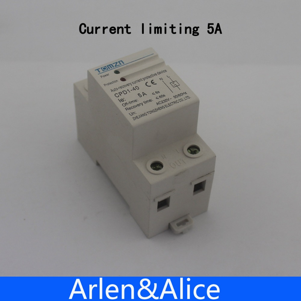 5A 1150W 230V 5060HZ Household Din rail automatic recovery