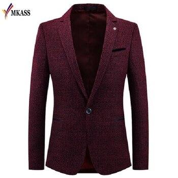 New Fashion Men Casual Suit Business Style Men's Long Sleeve Slim fit Suits Masculine Blazer one Button Suits M-3XL