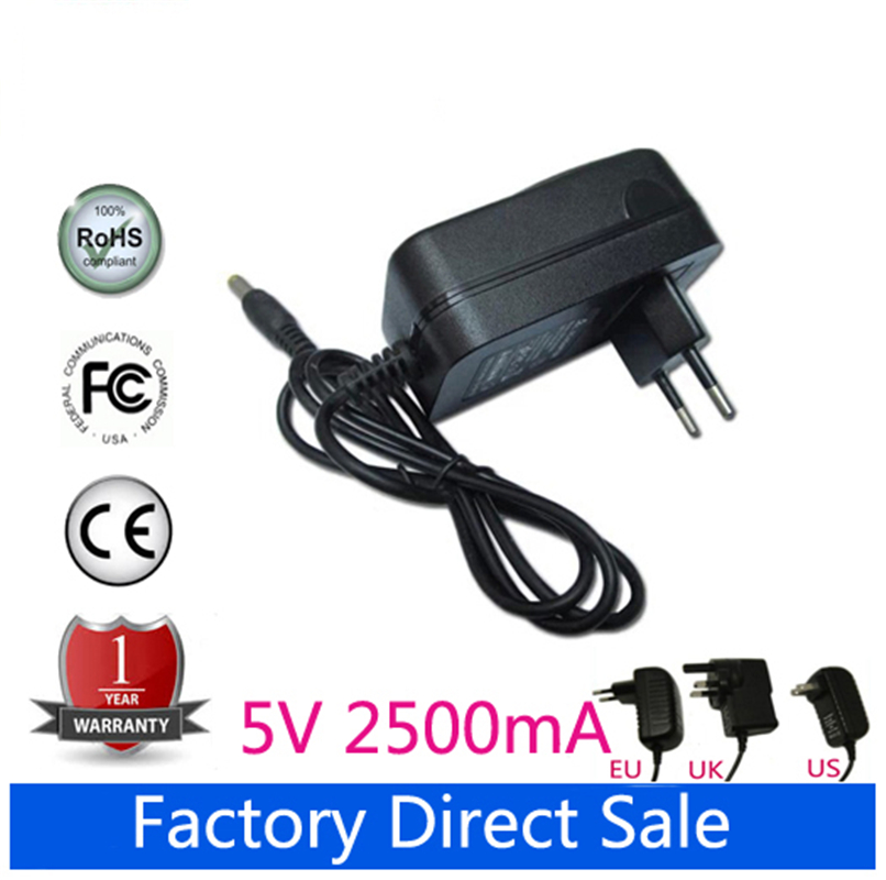 Universal 5V 2.5A AC DC Power Adapter Wall Charger For Prestigio Smartbook 116A 116A02 PSB116A02BFW_RG