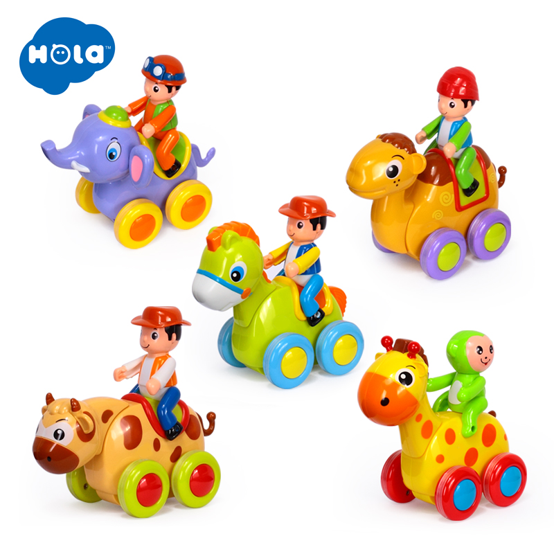 1PC Baby Toys Figure Pull Back Cartoon Car Toy Push And Go Friction Powered Animal Cars Fun Toys For Children HUILE TOYS 366X