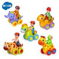 1PC bébé jouets Figure tirer en arrière dessin animé voiture jouet pousser et aller Friction alimenté animaux voitures jouets amusants pour enfants HUILE jouets 366X