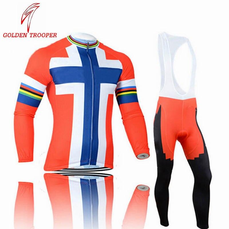 GOLDEN TROOPER Sports de plein air cyclisme Jersey printemps hiver vélo manches longues vtt route course vêtements Top qualité Fit maillots