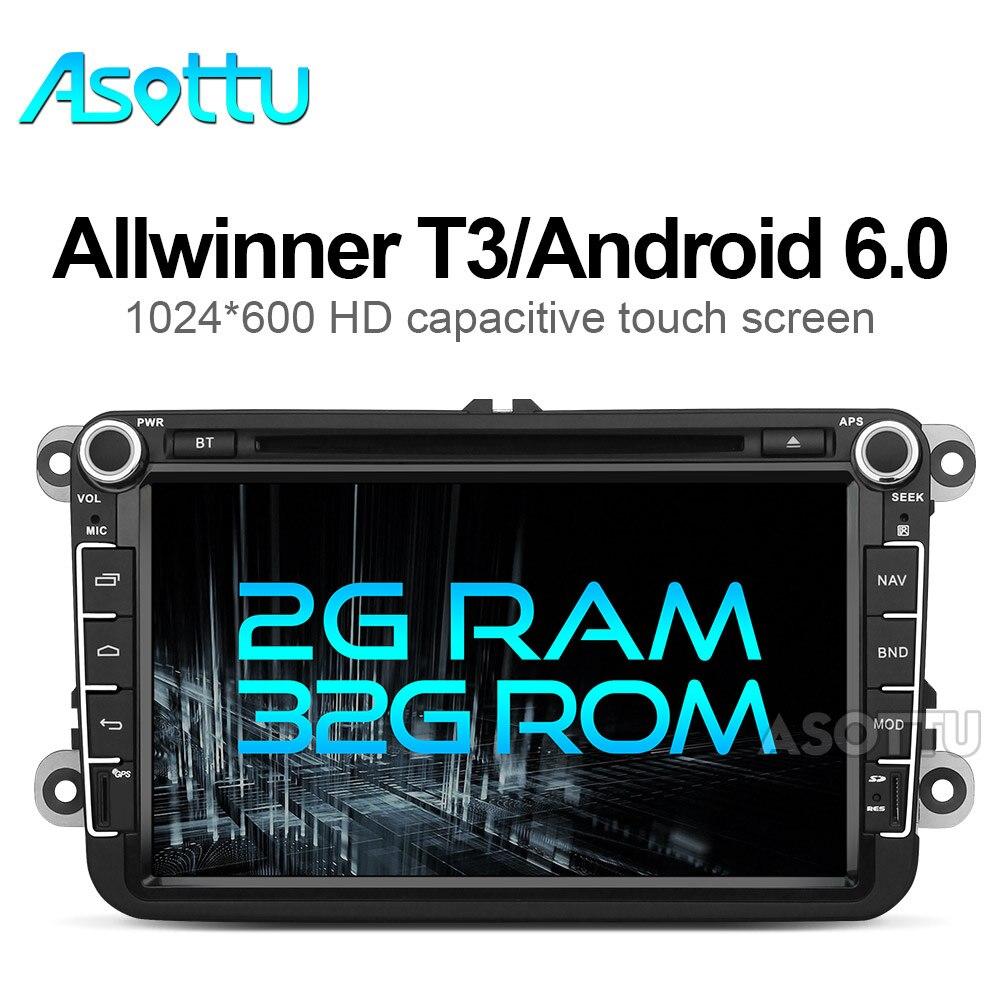 imágenes para 2G + 32G android 6.0 navegación del coche dvd gps para skoda VW volkswagen amarok caddy escarabajo bora CC EOS jetta conejo polo sharan gps