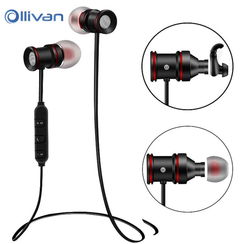 все цены на Newest BTH-828 Sport Wireless Earphone Bluetooth Headset V4.1 Stereo earphones with Microphone & Magnetic for all SmartPhones PC онлайн