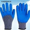 Горячие 1 пара и 3 пары садовые рабочие перчатки для мужчин или женщин с красочным полиэстеровым синим пенным латексом защитные перчатки