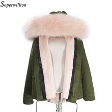 Thicken Warm 2016 New Winter Jacket Women's Parkas Coats Large Raccoon Real Fur Winter Jacket Collar Hooded Fashion Quality TOP
