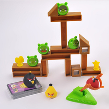 Original box Bird Desktop Board Games Combat Version Slingshot Shooting Toys Backpack Building Blocks Sets Educational DIY  Toys