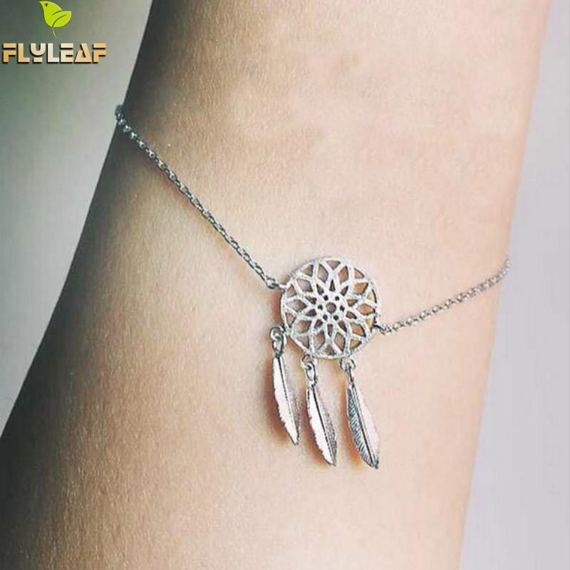 Aliexpress Buy Flyleaf Dreamcatcher Charm Bracelet For Women Simple Dream Catcher Charm Bracelet