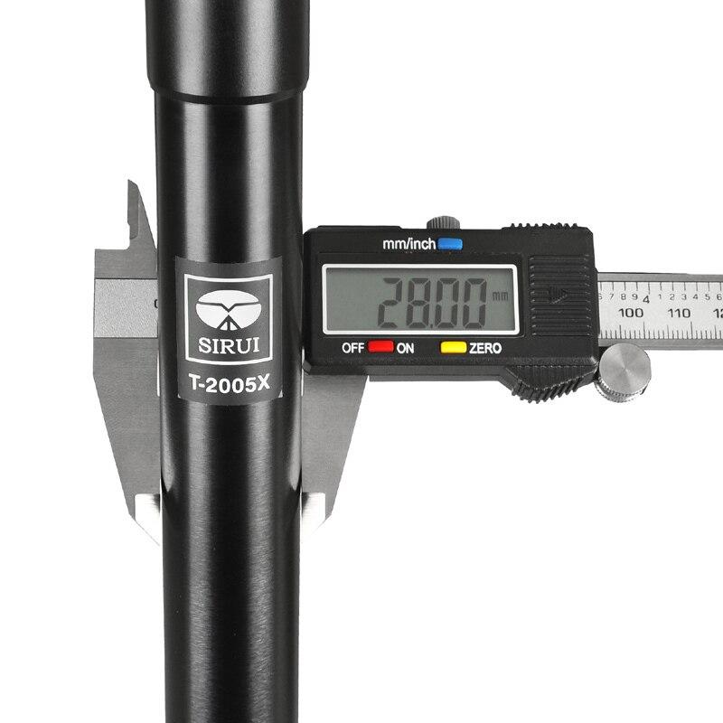 T-2005X Sirui extérieur voyage caméra pied Go Pro trépied en aluminium robuste fiable pieds support pour Nikon Canon reflex accessoires dhl