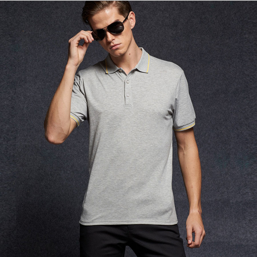 Layra Solid   Polo   Shirt For Men Slim Fit Quick Dry Breathable Summer Casual Male   Polos   Short Sleeve Elastic Fashion Men's Clothes