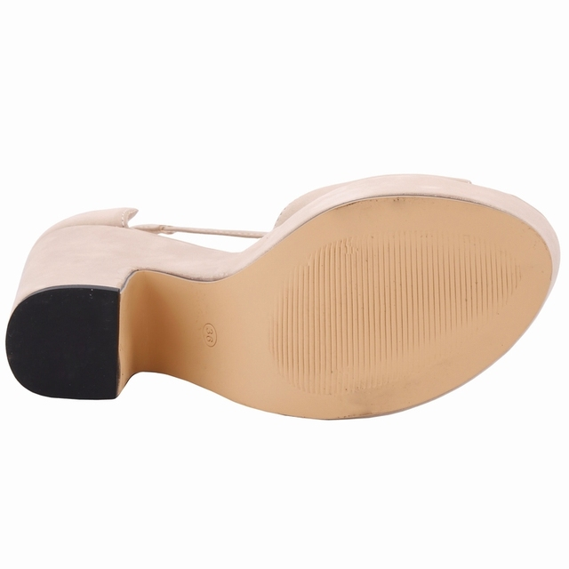 LOSLANDIFEN Sexy High Heels Platform Shoes Peep Toe Pumps Women's Dress Fashion Flock Wedding Shoes Lady Pumps 9 Colors 978-1VE