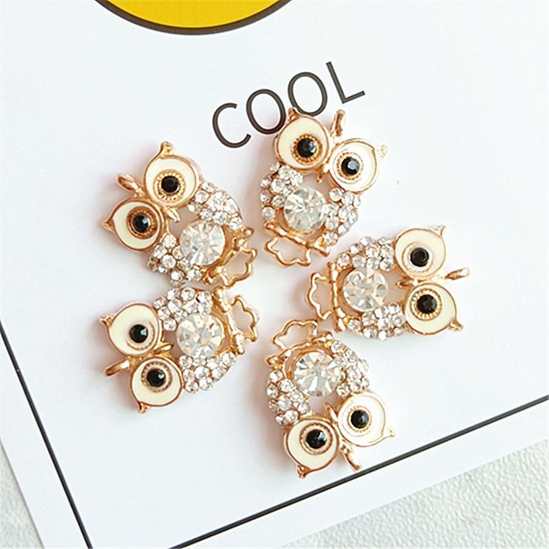 10pcs Wholesale Jewellery Charm Vintage Rhinestone OWL Chain Necklace Fashion US