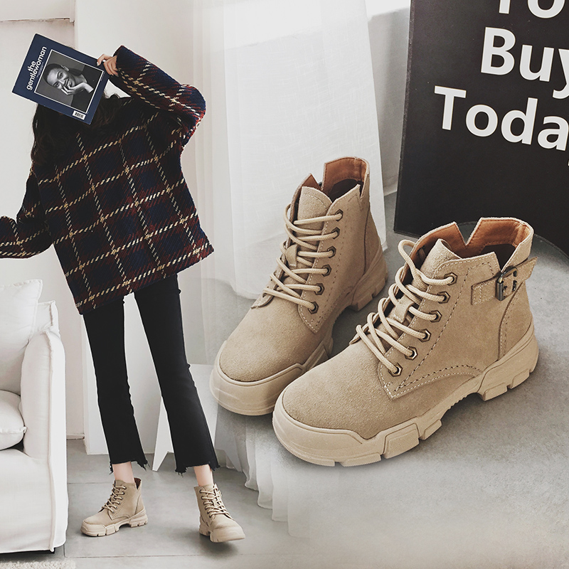 MYCORON 2018 Top Quality Leather Women Shoes Martin Boots High Top Motorcycle Autumn Winter Boots Woman Snow Boots Scarpe Donna lozoga quality genuine leather shoes men boots high top martin motorcycle autumn winter shoes lover snow boots free shipping