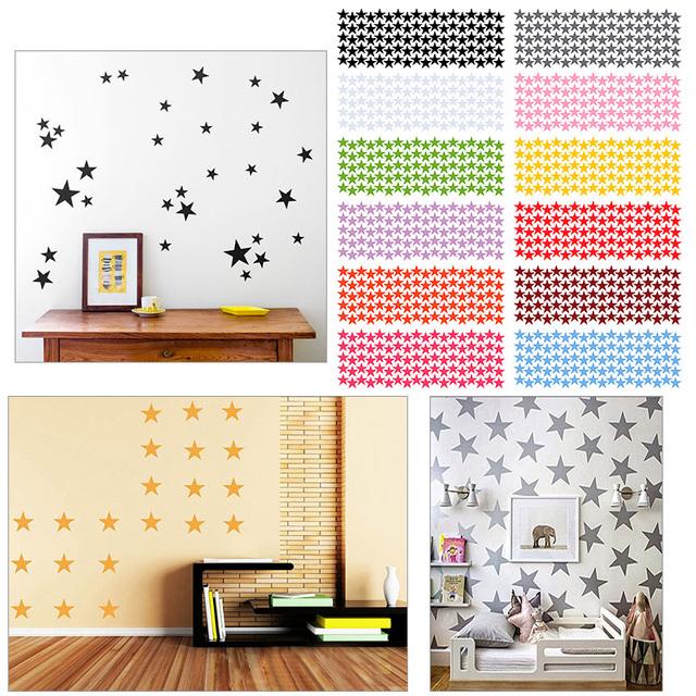 Moda 12 kolory stars naklejki ścienne dla dzieci pokój dziecka, diy wall art home decor naklejka #87379