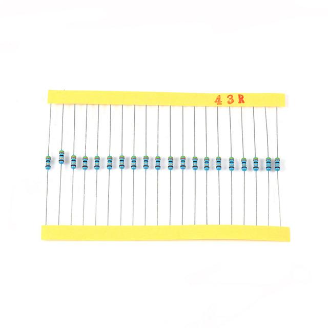 2600Pcs Resistors 0.25W 130 Kinds Metal Film Resistors Resistance Fuse Component Set