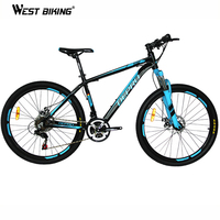 Mountain Bike Aluminum Alloy 21 speed Dual Disc Brakes 26 inch Variable Speed Drive Bicycle Men & Women Students Cycling Bicicle
