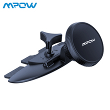 Mpow CD slot Car Phone Holder Universal Magnetic Cellphone Stand Car Mount 360 Rotation For Cellphone GPS Tablet Pad Under 300g jx 1 020 universal car suction cup stand holder for cellphone gps blue