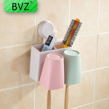 BVZ Toothbrush holder set with cups automatic toothpaste dispenser Squeezer Wash Gargle Cup Bathroom Accessories set 3pcs bathroom accessories toothbrush holder ceramic green plant couple toothpaste cup holder with bamboo tray nordic cups set