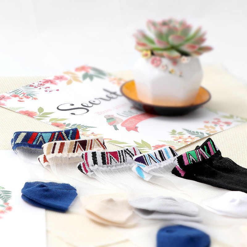 Calcetines de rejilla de seda de malla de encaje sexys de fibra de elasticidad transparente de tobillo de red de hilo fino de mujer Cool calcetines 1 par = 2 piezas TMD02