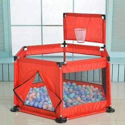روضة أطفال بلاستيكية محمولة المبارزة للأطفال للطي سياج باريرسبول بركة للطفل السفر كرة السلة هوب