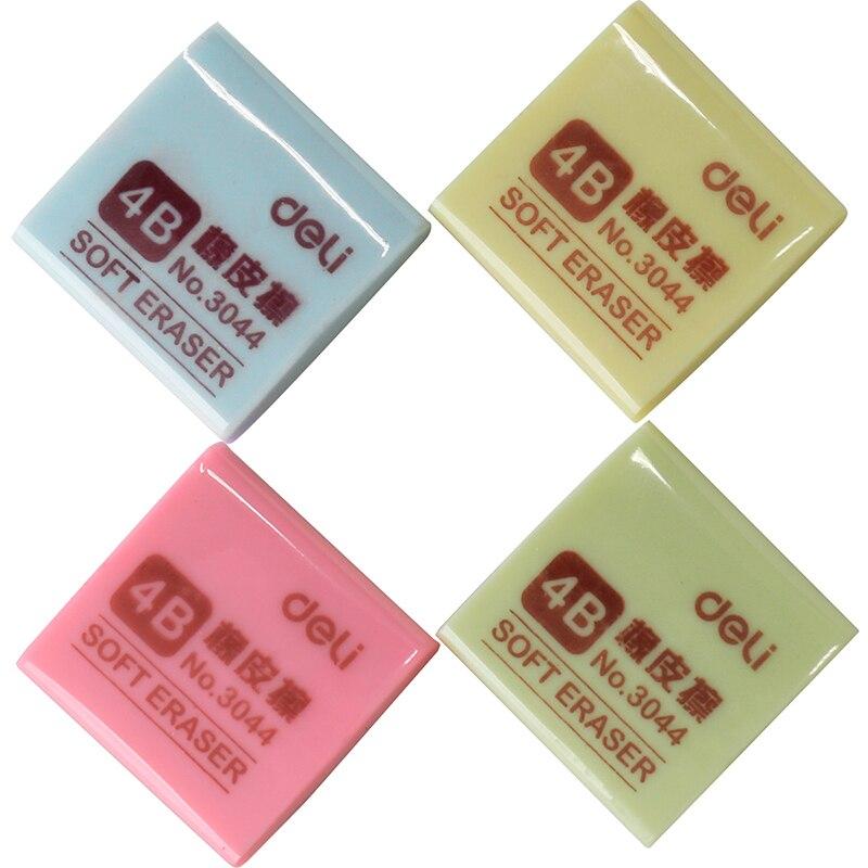Deli 3044 Colorful Eraser Multicolour 4b Art Rubber Office Fantastic Pencil Soft Eraser