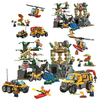 Bela 10712 Urban Jungle Exploration Site diy Building Block Toys Children Gifts Cities Compatible with Legoings 60161 02061
