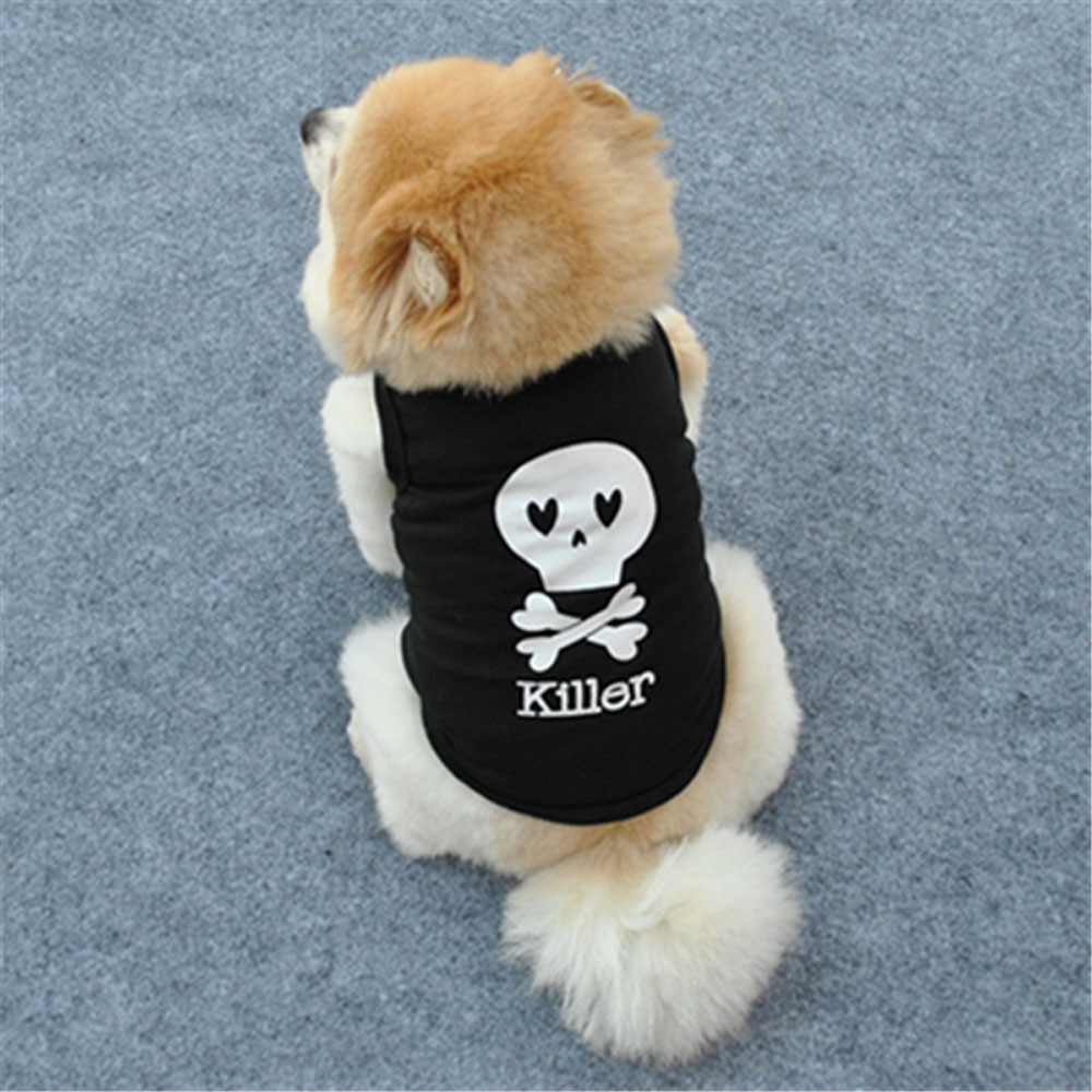 Fashion Summer Cute Dog Pet Vest Puppy Printed Cotton T Shirt XS/S/M/L